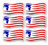 "Trump American Flag Republican Hard Hat Stickers Helmet Decals 6 Pack  2.5"" wide"