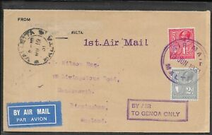 MALTA 1933 AIR MAIL COVER TO MR WILSON