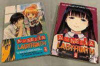 Amnesia Labyrinth 1+2 - Nagaru Tanigawa Seven Seas English Manga COMPLETE SET!