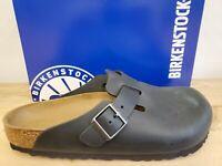 Birkenstock Boston Oiled Leather Black 59461 Regular Fit Shoes for Men