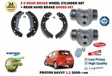 FOR PROTON SAVVY 1.2i G4F 2005-> REAR HAND BRAKE SHOES SET + 2X WHEEL CYLINDERS