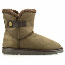 Wedge Flat (less than 0.5') Women's Faux Suede Boots