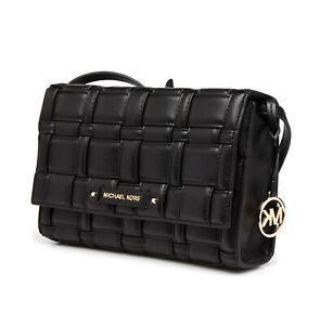 Michael Kors Bag Handbag Shoulder Bag Ivy LG cross Body Clutch Black New