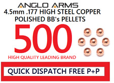 Anglo arms 500 steel 4.5mm high polished BB's pellets round copper .177 metal