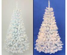 Weihnachtsbaum 180cm mit 545 weißen Zweigspitzen B1, Kunstbaum Georgia m.192 LED