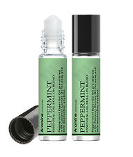 Peppermint Essential Oil Roll On, 2 Pack, Pre-Diluted 10ml by Aromine Essentials