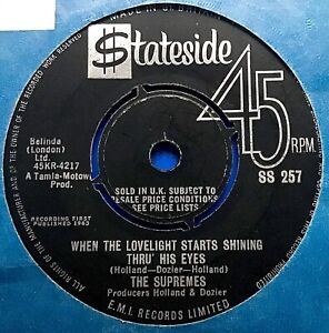 MOTOWN <> THE SUPREMES <> WHEN THE LOVELIGHT SHINES <> SUPER RARE DEBUT SINGLE!!