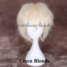 Male Female Synthetic Hair Short Straight Wig Cosplay Party Anime Raver Cool bff