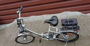E-Bike 20 Zoll Klappfahrrad, Silber