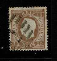 Portugal SC# 38, Used, Hinge Rems, minor toning, shallow top/center thin - S4802