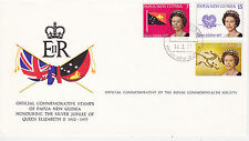 Papua New Guinea First Day Cover 1977 Off. Commemoratives Queen Elizabeth Ii