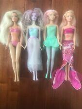 Barbie lot of four 💚 fairy, mermaid, beach sparkle doll