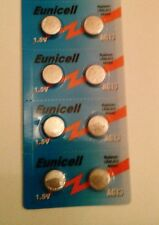 Eunicell 8 PILES BOUTON ALCALINES LR44 AG13 A76 1.5V