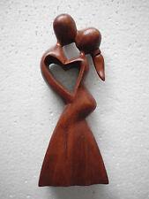 Abstrakte Holz Braun Bali Liebespaar 30 cm OFF800E