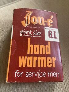 VINTAGE ALADDIN JON-E HAND WARMER GIANT G. I. SIZE WITH BOX AND FELT BAG