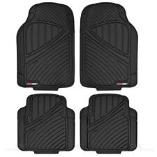 Rugged Liner Heavy Duty Rubber Car Floor Mats - 4pc Front Rear Black All Weather