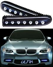 2 x Waterproof Daytime Running White Xenon Look Bright LED Lights in a Hard Body