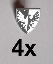 Lego 4x Ritterschild Falke schwarz silber Shield Triangular  Falcon Neu Castle