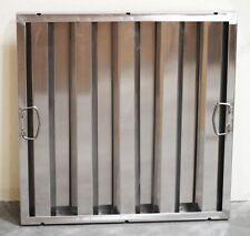 """Box of 6 Restaurant Hood Filters 20"""" x 20"""" x 2"""", Stainless Steel Grease Baffle"""