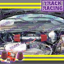 DUAL 04-11 DODGE DAKOTA/DURANGO/RAM/NITRO 3.7L V6 TWIN AIR INTAKE KIT+K&N Red