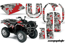 Yamaha Grizzly 660 AMR Racing Graphics Sticker Kit Quad ATV Decals CAMOPLATE RED