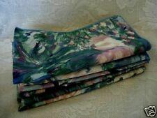 Set of 6 Teal/Blue/Pink/Lavender Chintz Print Napkins - NEW