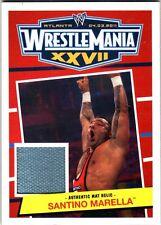 WWE Santino Marella 2012 Topps Heritage WrestleMania 27 Used Mat Relic Card FD30