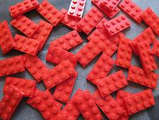 LEGO Bulk Sale - 20 x RED 4 pin x 2 pin Flat Plate Building Bricks