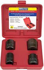 """4 Pc. Lug Nut Remover Socket Set 3/4"""",13/16"""",1"""" & 1-1/8"""" 1/2""""DR Ken tools 30254"""