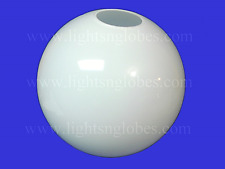 """20"""" White Acrylic Round Sphere Globe 5.25"""" Opening Neckless Hole for Outdoor New"""