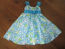 JONA MICHELLE GIRLS BLUE & WHITE PARTY DRESS AGE 3 1/2 -4 YEARS