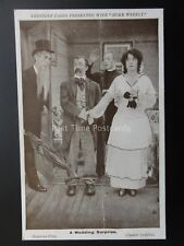 Mabel Norma & Chester Conklin A WEDDING SURPRISE Keystone Photocard  c1915