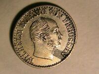 1869-C Prussia Germany 1 Silber Groschen Original AU+/BU Wilhelm Silver Coin