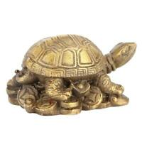 Chinese Copper Brass Tortoise Lucky Fengshui Statue Ornament Home Decor Craft
