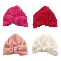 Toddler Kids Baby Infant Bow-knot Headband Beanie Turban Hat Cap Head Wrap Hot