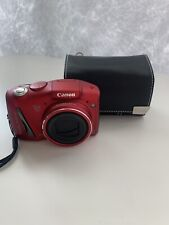 Canon PowerShot SX150 IS 14.1MP Digital Camera Red MINT w/case 8 GB memory card