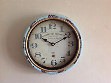 Vintage Retro Distressed Wall Clock Looking Battery Operated Quartz Clock