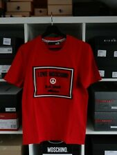 Love Moschino T-Shirt Red with Rubber Logo on the front size S