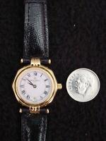 Vintage Michel Herbelin Ladies Watch Gold Lizard ETA Swiss 7 Jewel