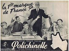 PUBLICITE ADVERTISING 115  1961  POLICHINELLE  sous vetements enfants  & homme