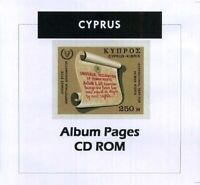 Cyprus - CD-Rom Stamp Album 1880-2016 Color Illustrated Album Pages
