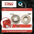 2x Brake Discs Pair Solid fits ROVER MAESTRO 1.3 Front 90 to 95 12HE 240.5mm Set