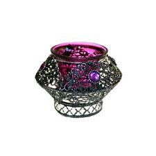 Orientalischer Teelichthalter No-03 rund lila
