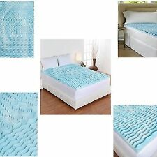 "Cooling Gel Foam Mattress Topper Pad Bed Queen Size 2"" Orthopedic Firm Cover Bed"