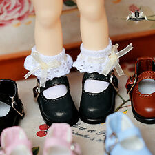 1/12 BJD Shoes Dollfie DREAM DIM LATI Tiny Black student Shoes AOD DOD DZ 2.8cm