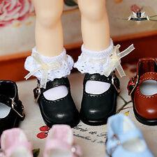 1/12 BJD Shoes Dollfie DREAM DIM LATI Tiny Black student Shoes AOD DOD DZ 2.8cm