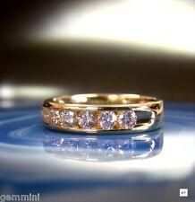 18K YELLOW GOLD CHANNEL SET 1.00 CT DIAMOND WEDDING ANNIVERSARY BAND RING SIZE 7