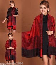 Fashion Women's pashmina Floral Cashmere Silk Scarf Shawl/Wrap Scarves Shawls