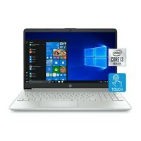 "NEW HP 15.6"" TOUCHSCREEN LAPTOP INTEL DUAL CORE 10TH GEN I3 3.4GHZ 8GB 256GB SSD"