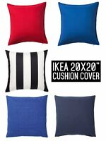 "Ikea Cushion Cover 20 x 20""  New 100% Cotton Pillow Cover"